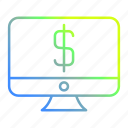 business and finance, computer, monitor, technology icon