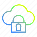 cloud, data, protection, safe, security icon