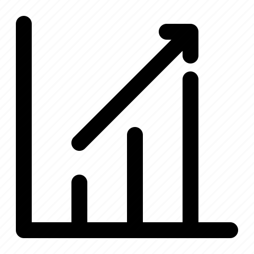 business, chart, finance, market, up icon