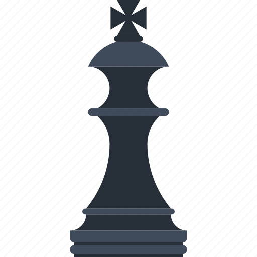 King, figure, strategy, game, chess, piece, plan icon