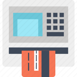 atm, bank, card, credit, finance, machine, money icon
