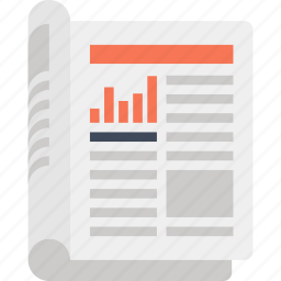 media, news, newsletter, newspaper, paper, press, release icon