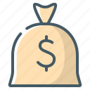 bag, finances, finance, money, saving icon
