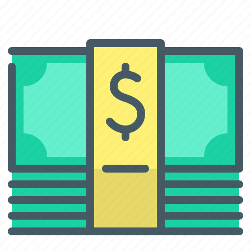 cash, currency, dollar, money, money pack icon