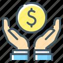 coin, hands, money, money saving, saving