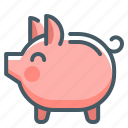bank, money, piggy, piggy bank, save icon