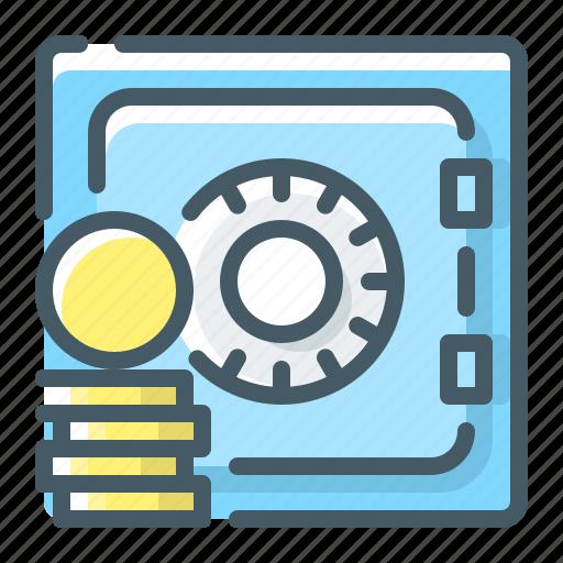 bank, deposit, money, safe, strongbox icon