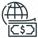 globe, internet, internet payment, money, payment icon