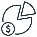 chart, dynamics, money, statistics icon