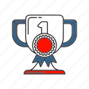 achievement, award, business, strategy, success, target, winner icon