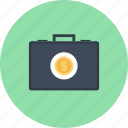 briefcase, business, finance, investment, money, portfolio, savings icon