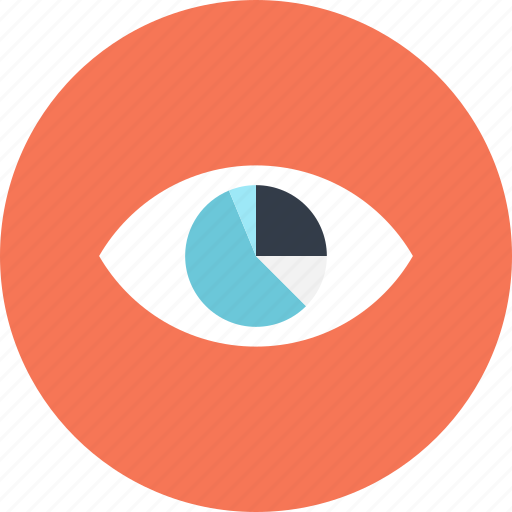 analysis, analytics, chart, data, eye, graph, vision icon