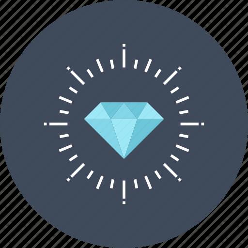 diamond, gem, jewel, precious, premium, service, wealth icon