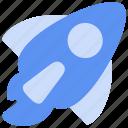 bukeicon, business, finance, rocket, startup