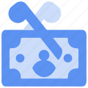 bukeicon, business, deductions, money, scissors, tax, taxes icon