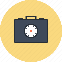 briefcase, business, clock, management, portfolio, schedule, time icon
