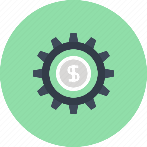 cogwheel, finance, gear, investment, management, money, profit icon