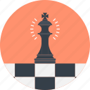 chess, figure, game, king, piece, plan, strategy