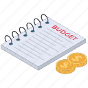 budget document, budget report, financial document, financial report, financial statement, stock report icon