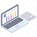 analytics, business chart, business report, data analytics, online statistics report, statistics icon
