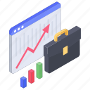 analytics, business chart, business data, data chart, financial graph, statistics icon