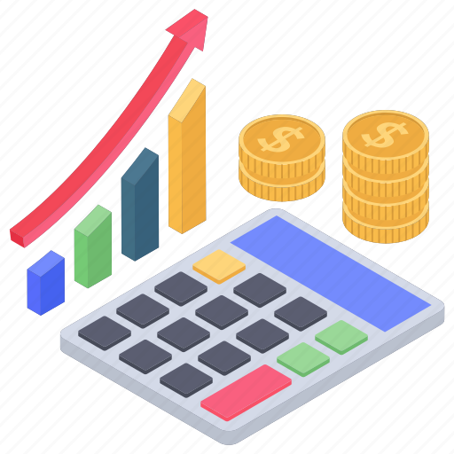 accounting, budget, business calculation, financial analytics, financial calculation icon