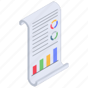 analytics, business chart, business report, data chart, statistical report, statistics icon