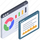 analytics, business chart, business website, data analytics, financial growth, statistics icon