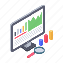 analysis report, analytics, business monitoring, financial analysis, online business analysis, statistics icon