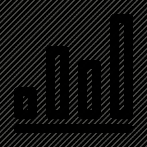 analysis, bar, chart, diagram, graph, progress, report icon