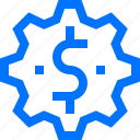 business, currency, exchange, finance, money, rate, setting icon