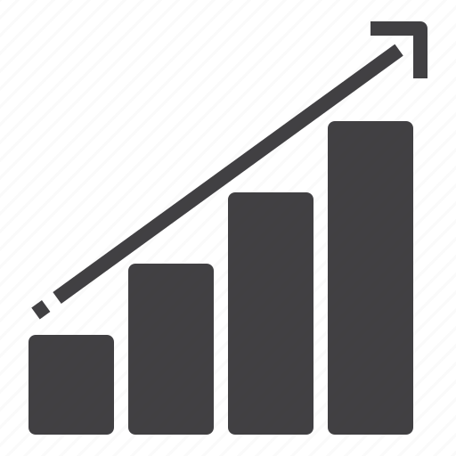 Arrow, business, chart, graph, growth, progress icon - Download on Iconfinder