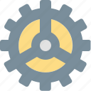 business, construction, gear, industry, process, production, work icon