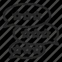 business, comments, critique, review icon