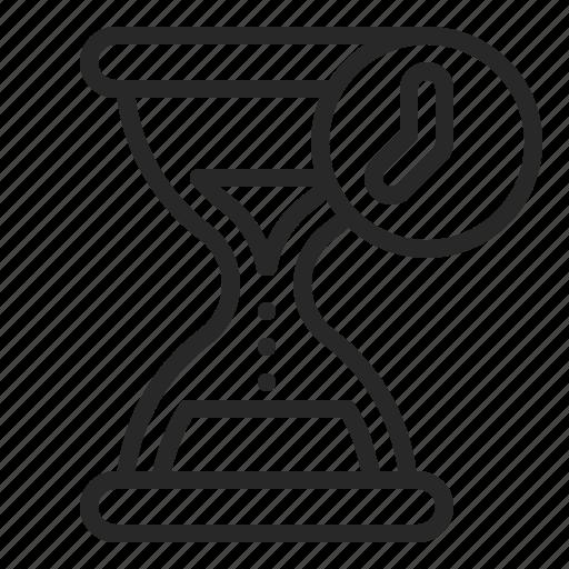 business, deadline, hourglass, period, sandglass icon