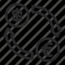 business, exchange, finance, interchange, money icon