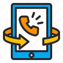 business, callback, notification, phonecall, smartphone icon