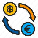 business, exchange, finance, interchange, money icon