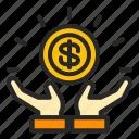 business, finance, money, profit, receive icon