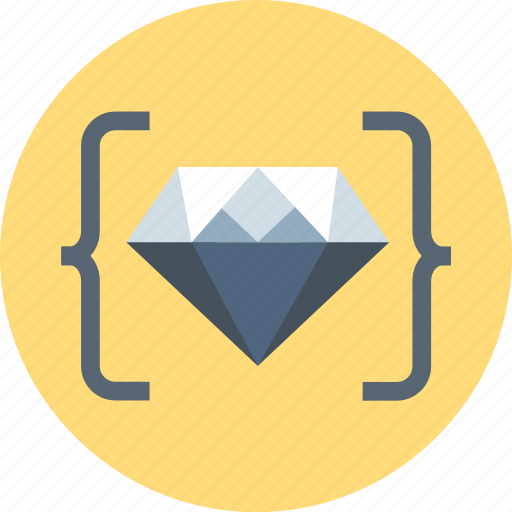 clean code, coder, coding, crystal, diamond, programing icon