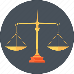 court, equal, law, measure, scales, weight icon