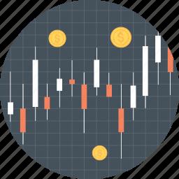 economy, money, stocks icon