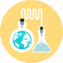 business, discover, international, science, test, tube, world icon