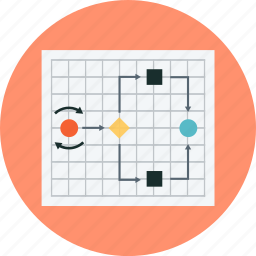 flowchart, mock up, time table, to do, wire frame icon