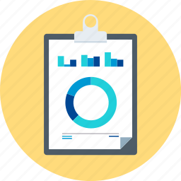 board, business, chart, clipper, reports, statistics icon