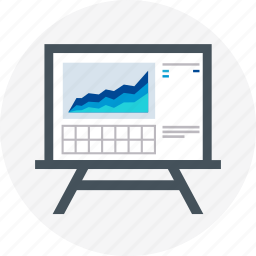 board, chart, presentation, reports, statistics icon