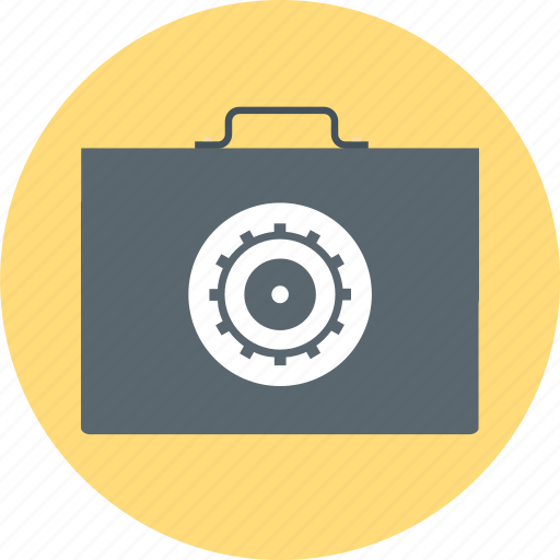 document, file, gear, management, portfolio, suitcase icon