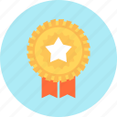 badge, review, star