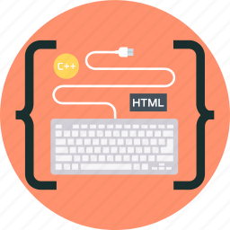 coding, computer, html, keyboard, programming icon