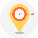 arrow, location, target icon